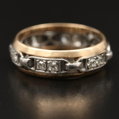 14K and Platinum Diamond Eternity Band