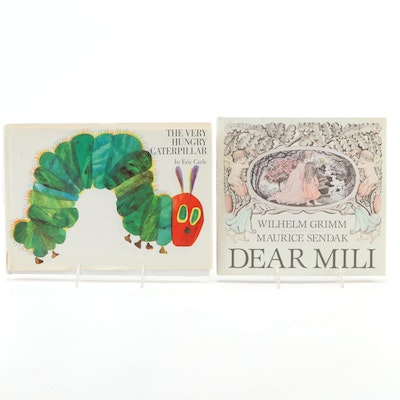 "Signed ""The Very Hungry Caterpillar"" by Carle and ""Dear Mili"" by Sendak, 1980s"