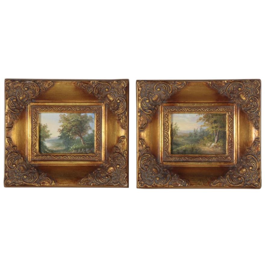 Miniature Landscape Oil Paintings, 21st Century