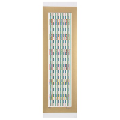 "Yaacov Agam Serigraph ""Vertical Orchestration"""