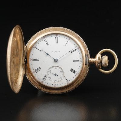 1900 Elgin Gold Filled Hunting Case Pocket Watch