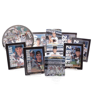"""Cal Ripken Jr. """"By The Numbers"""" Ceramic Plates with COA"""