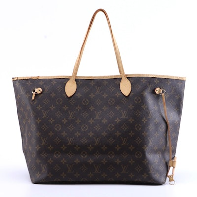 Louis Vuitton Neverfull GM Tote in Monogram Canvas with Vachetta Leather Trim