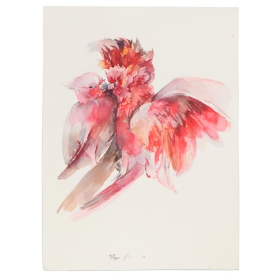 Pippa Kim Watercolor Painting of Birds, 2020