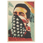 """Shepard Fairey Offset Lithograph Poster """"American Rage"""", 2020"""