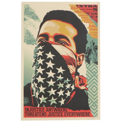 "Shepard Fairey Offset Lithograph Poster ""American Rage"", 2020"