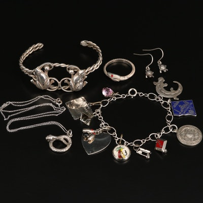 Vintage Sterling Silver Jewelry Featuring Animal Themes
