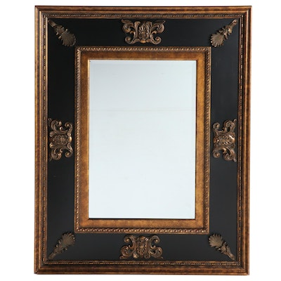 Large Uttermost Ebonized and Parcel-Gilt Mirror