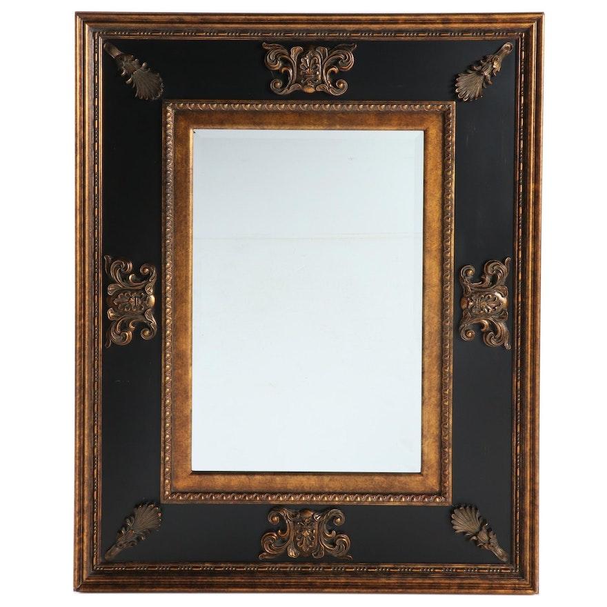 Large Uttermost Ebonized and Parcel-Gilt Mirror