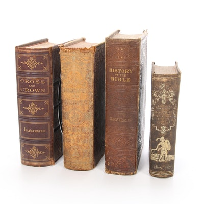 Illustrated Christian History and Theology Books, Mid/Late 19th Century