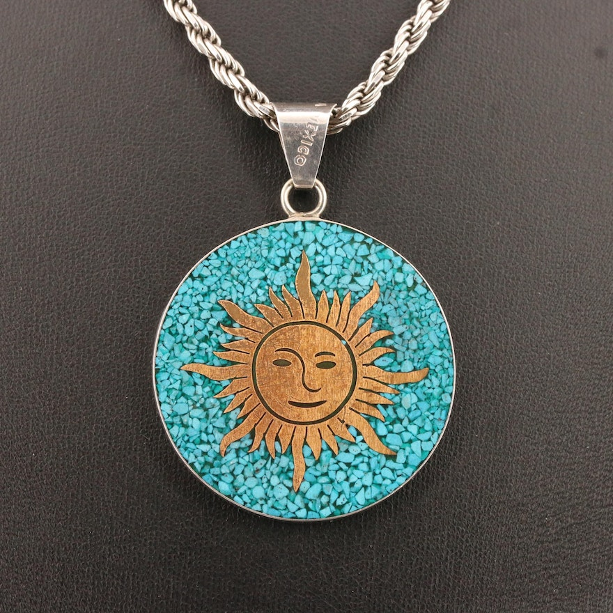 Mexican Sterling Silver Reversible Necklace