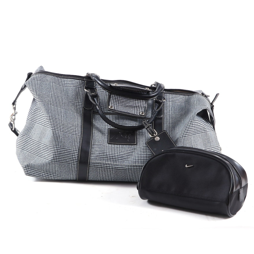 Barrington Captain's Bag in Houndstooth Printed Canvas with a Nike Dock Kit