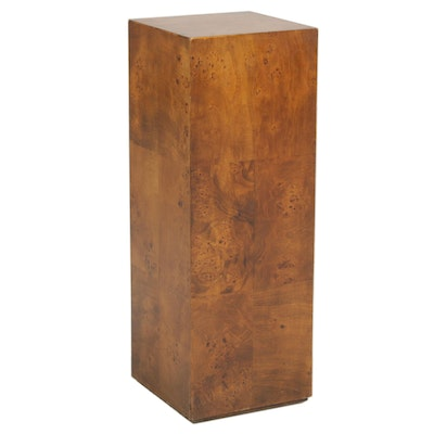 Burl Walnut Laminate Display Pedestal