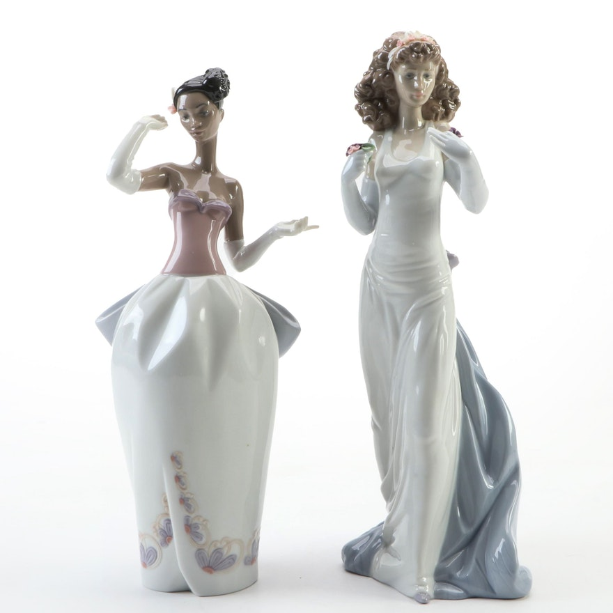 """Lladró """"Sharia"""" and """"Anticipation"""" Porcelain Figurines, Late 20th/Early 21st C."""