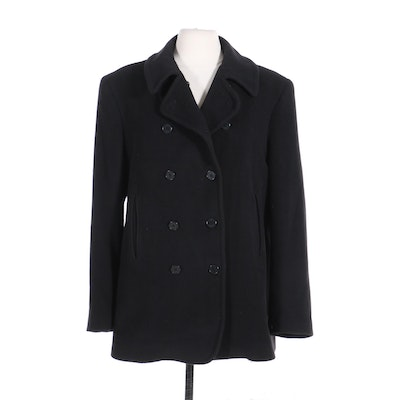 Richard Tyler Collection Women's Black Double-Breasted Peacoat