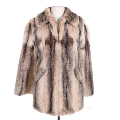Mink Fur Zippered Jacket