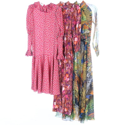 Don Luis de España and Other Floral Print Maxi Dresses, Vintage