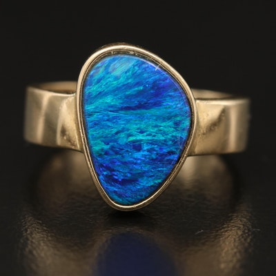 14K Gold Opal Triplet Ring