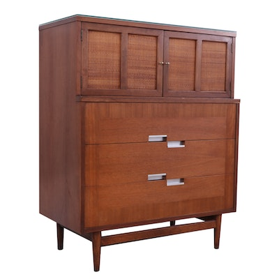 American of Martinsville Mid Century Modern Walnut Chest of Drawers