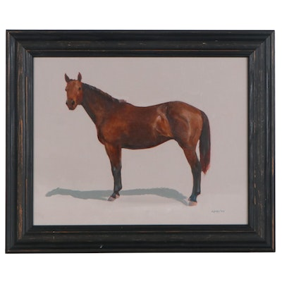 K.M. Daly Oil Painting of Bay Horse, 2005
