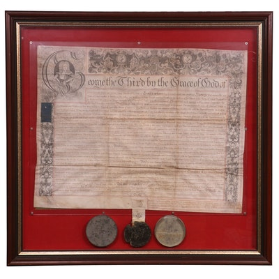 1780 Letters Patent of Sir William de Grey Knight with Seal of King George III