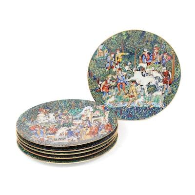 """Haviland Limoges """"La Chase a la Licorne"""" Porcelain Cabinet Plates"""