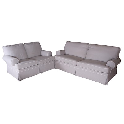 Clayton House Check Hide-A-Bed and Loveseat for Sofa Express