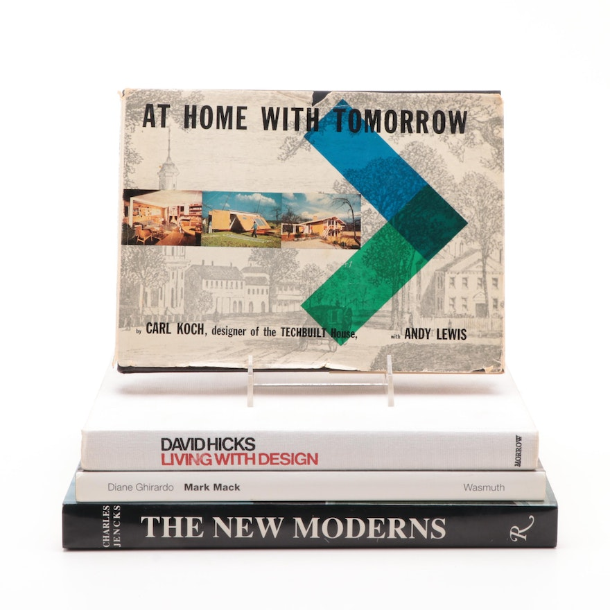 "First Edition ""At Home with Tomorrow"" by Carl Koch with Other Design Books"