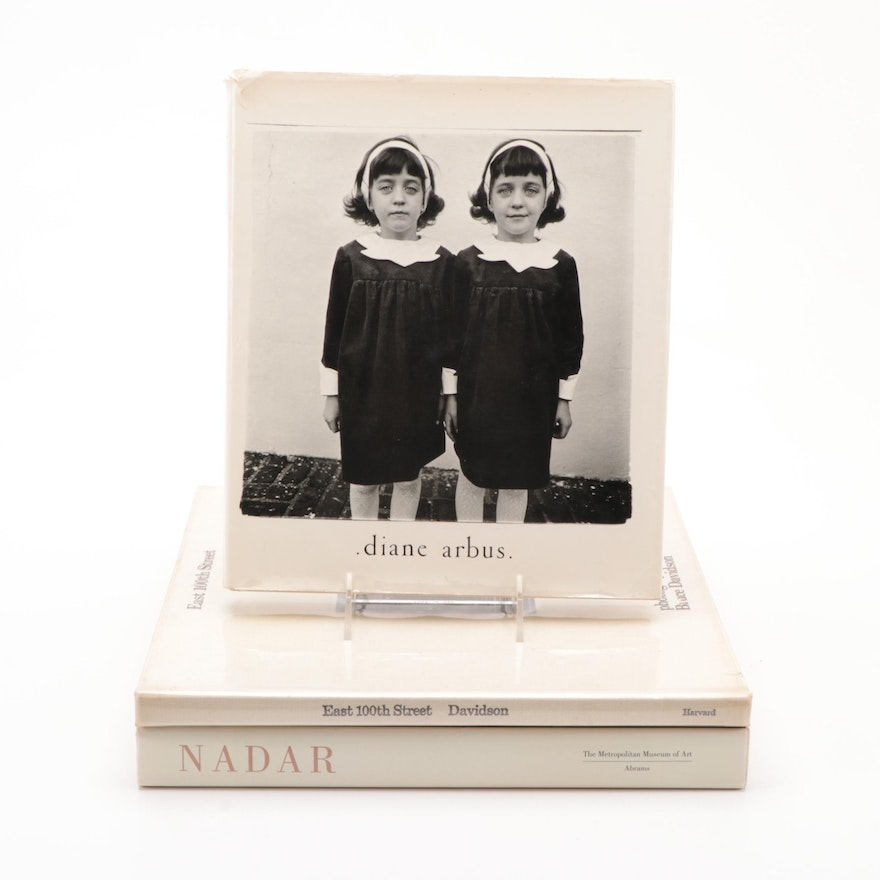 First Edition Photography Books by Bruce Davidson, Diane Arbus and Nadar