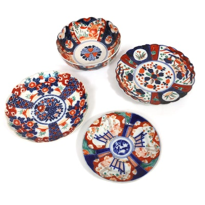 Japanese Imari Plates and Bowls, Antique