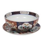"Otagiri Mercantile Company ""Gold Imari"" Porcelain Bowl and Underplate"