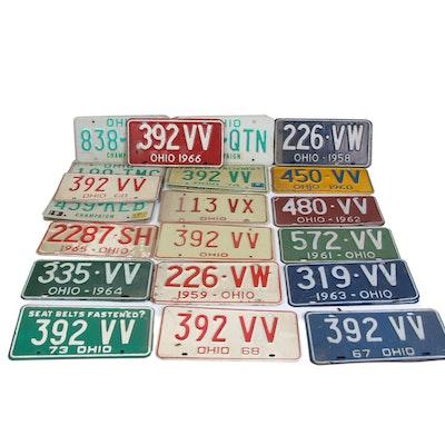 Ohio State License Plates, 1950s–1970s