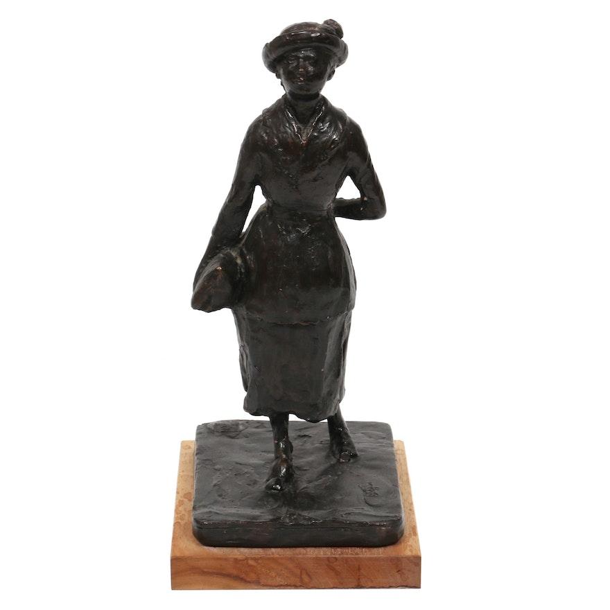 "Reproduction Resin Sculpture After Edgar Degas ""Schoolgirl"""