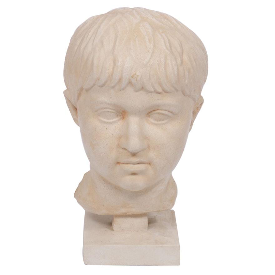 Philadelphia University Museum Reproduction Roman Bust, Mid 20th Century