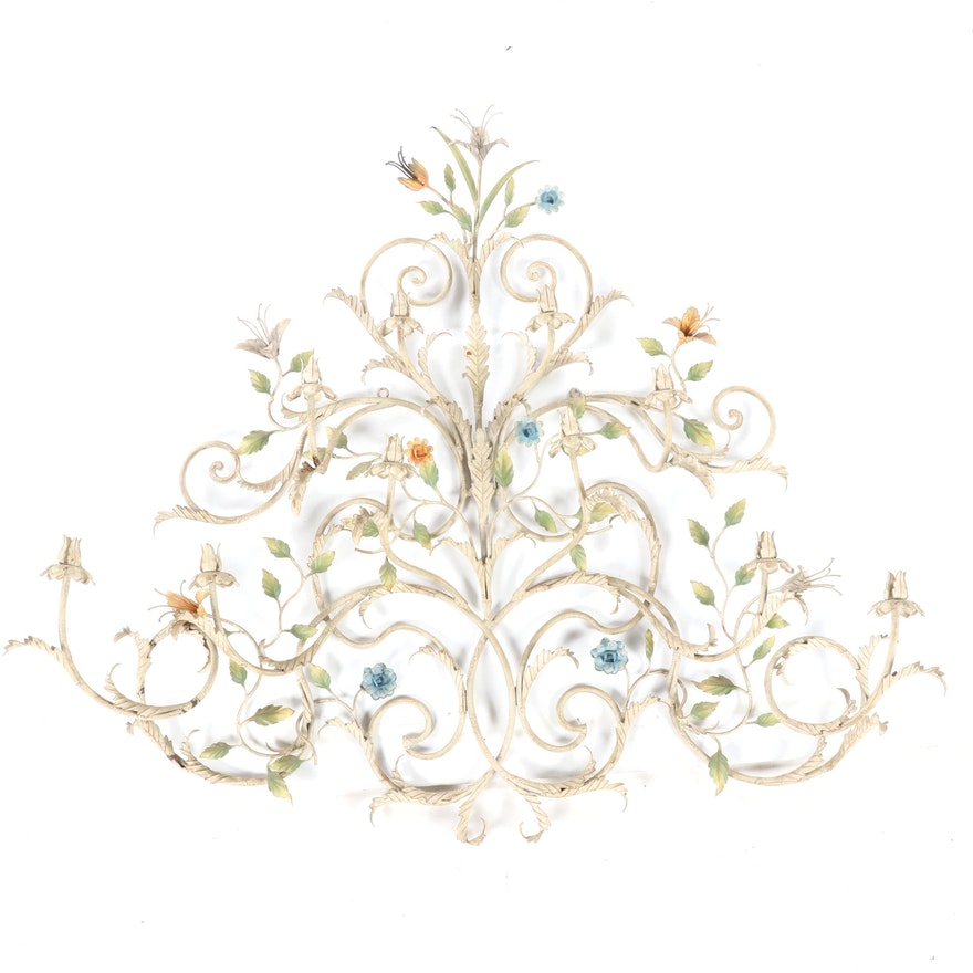 Decorative Scrolled Metal Floral and Foliate Wall Art