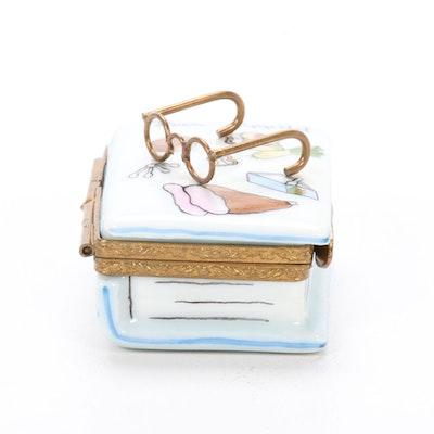 Hand-Painted Porcelain Cookbook Limoges Box