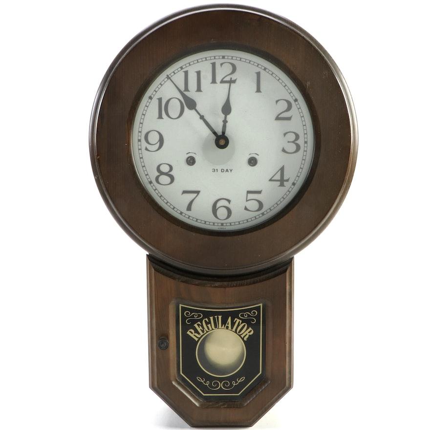 Spiegel 31 Day Regulator School Clock with Chimes
