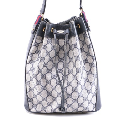 Gucci Accessory Collection GG Supreme Web Drawstring Shoulder Bag