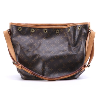Louis Vuitton Petit Noé Bucket Bag in Monogram Canvas and Vachetta Leather