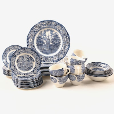 "Staffordshire ""Liberty Blue"" Ironstone Dinnerware, 1975–1981"