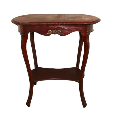 Louis XV Style Gilt Metal-Mounted Cherrywood Side Table