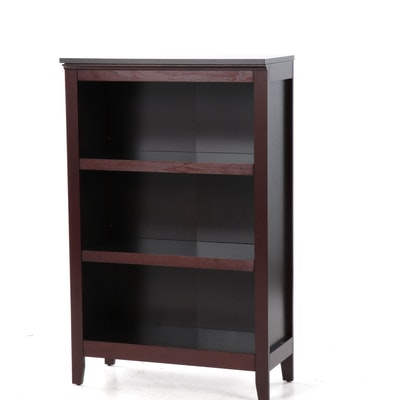 Contemporary Mahogany-Stained Bookcase
