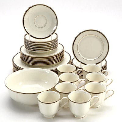 "Lenox ""Urban Lights"" Porcelain Dinnerware and Serving Bowl, 1992–2007"