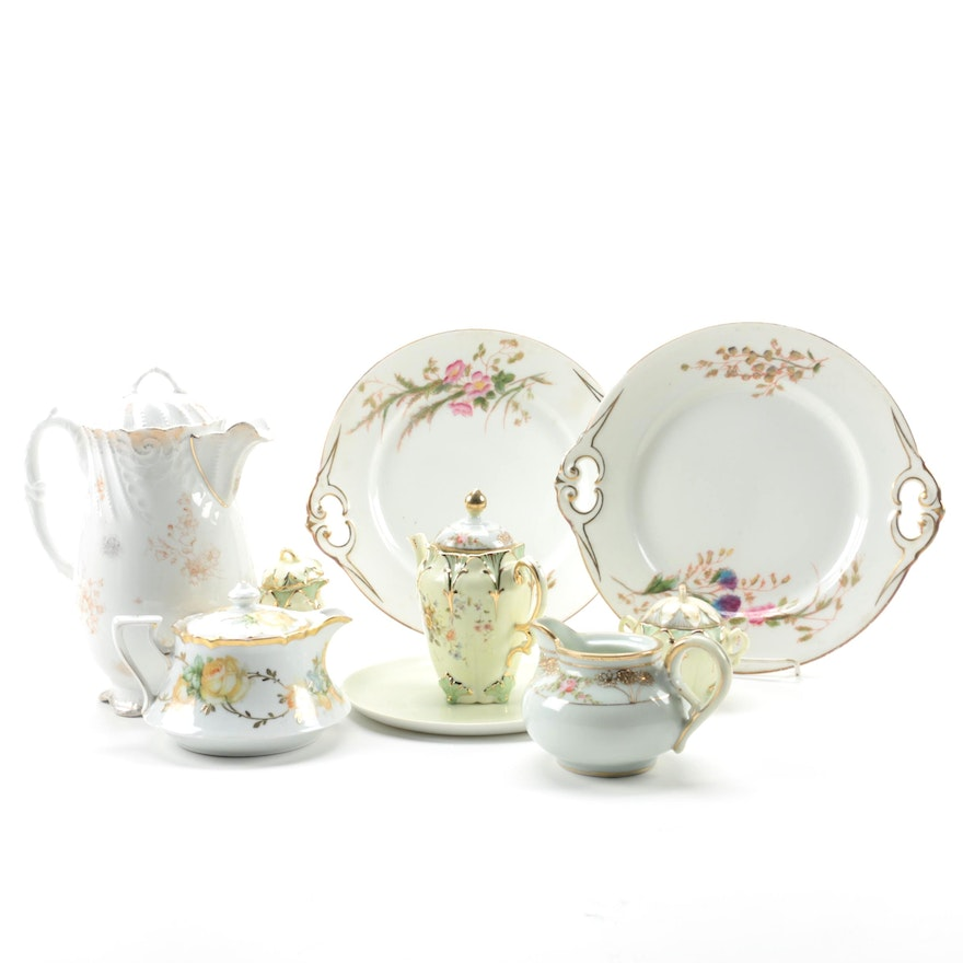 Charles Field Haviland and Other Porcelain Tableware, Early to Mid 20th Century
