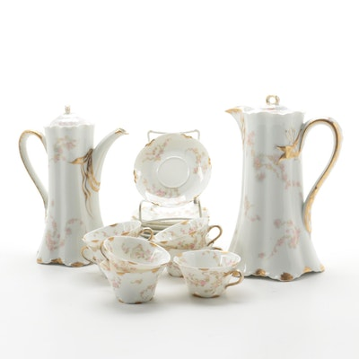 Haviland Floral Porcelain Tea and Coffee Service, Late 19th/Early 20th C.