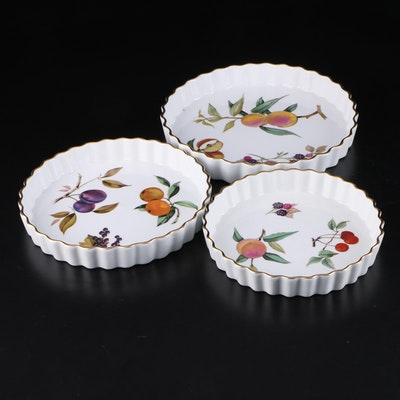 "Royal Worcester ""Evesham"" Porcelain Quiche Baking Dishes"