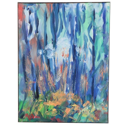 """Claire McElveen Landscape Oil Painting """"Season's Beauty,"""" 2020"""