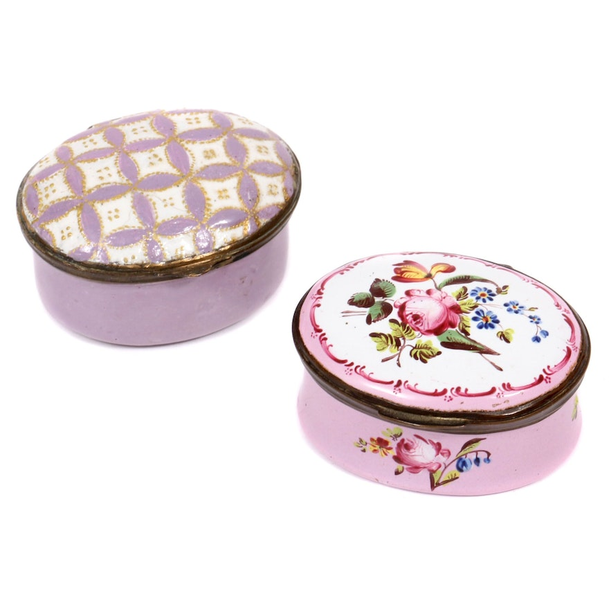 Bilston and Other Enamel Boxes, Late 18th to Early 19th Century