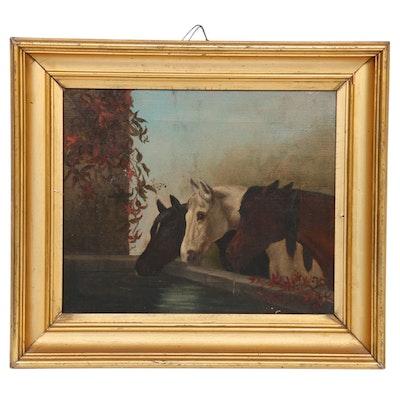 Oil Painting after John Frederick Herring Sr.