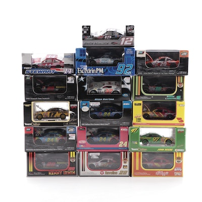 Set of NASCAR 1:64 Diecast Model Cars, Including Limited Editions